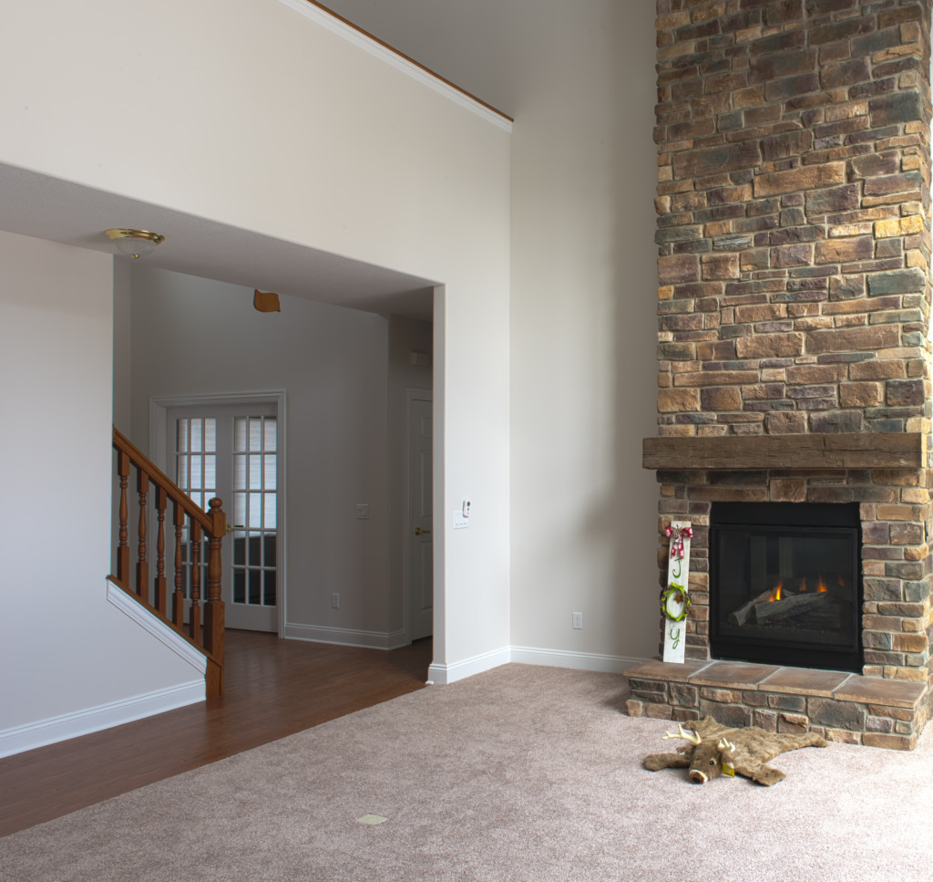 004 Fireplace with Stairs View