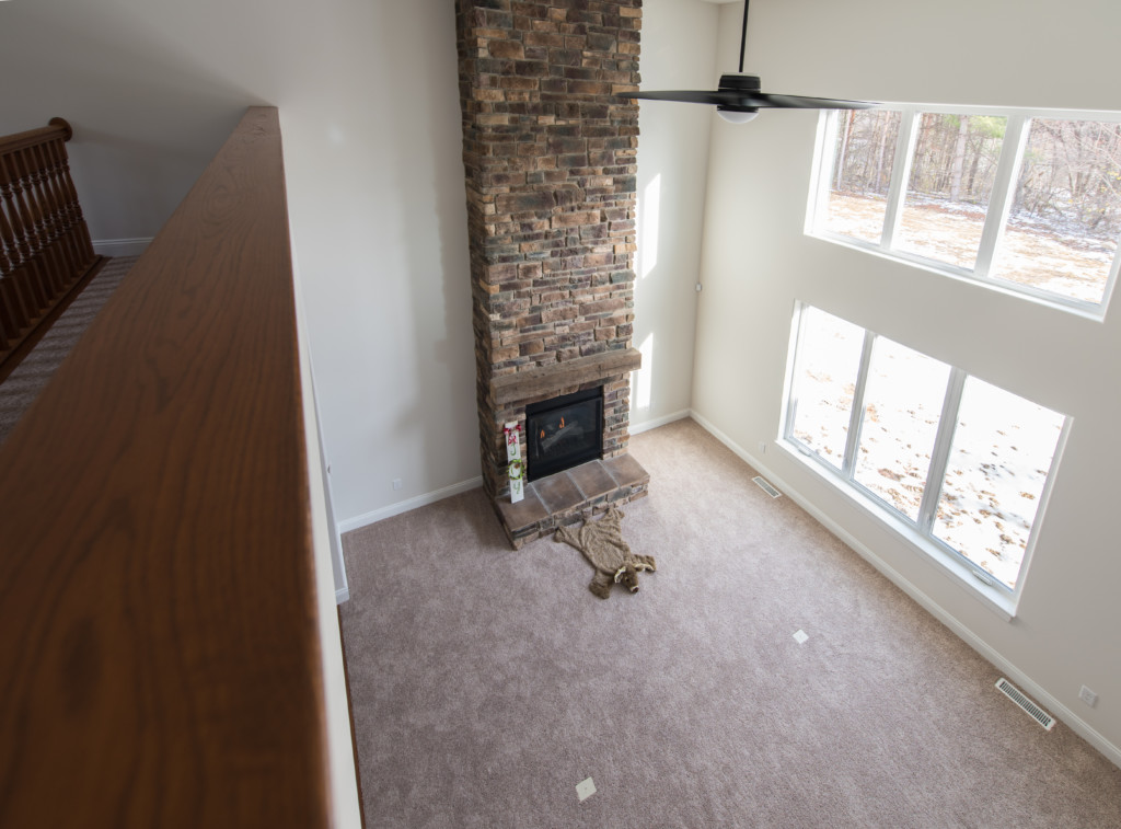 016 Second Floor View of Fireplace