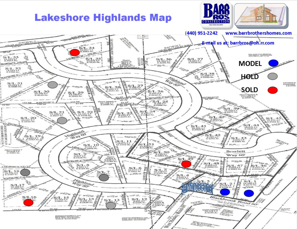 Lakeshore Highlands Map